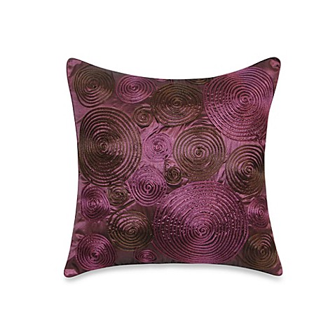 Throw Pillows Printing : Buy Pinwheel Cord Square Throw Pillow in Plum from Bed Bath & Beyond