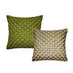 Basket Weave Cord Square Toss Pillow