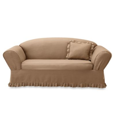 Sure Fit® 1-Piece Collette Slipcover in Cocoa