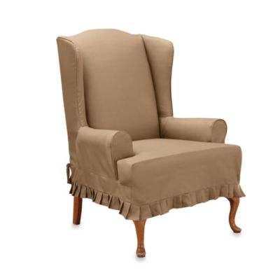 Sure Fit® Colette Wing Chair Slipcover