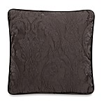 Matelasse Damask Pillow in Espresso