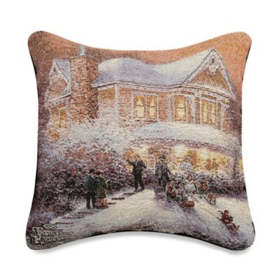 Victorian Christmas II Square Throw Pillow