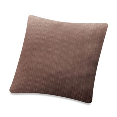 Sure Fit® Stretch Pinstripe Square Toss Pillow in Chocolate