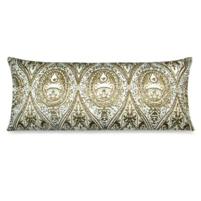 Oblong Throw Pillow in Gold