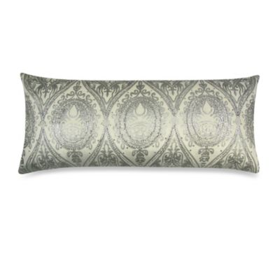 Oblong Throw Pillow in Silver