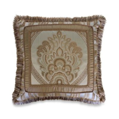 Austin Horn Classics Tuscany 18-Inch Square Pieced Toss Pillow
