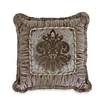 Austin Horn Classics Minuet 18-Inch Shirred Fringed Square Toss Pillow
