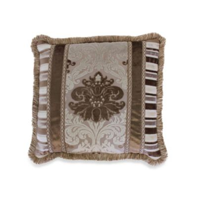 Minuet 18-Inch Fringed Square Throw Pillow