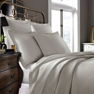Kassatex Arno Collection King Coverlet in Flax