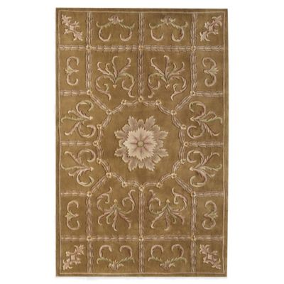 Rugs America Flora 5-Foot x 8-Foot Rug in Butternut Brown