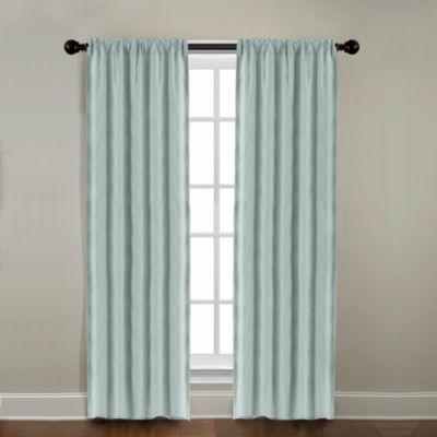 CityLinen Linen 63-Inch Rod Pocket Window Curtain Panel in Mineral