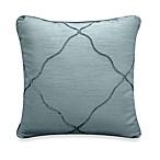Veratex Diamonte Square Toss Pillow in Mineral