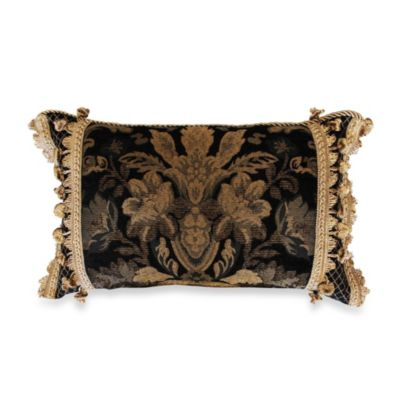 Austin Horn Classics Verona Boudoir Toss Pillow in Black