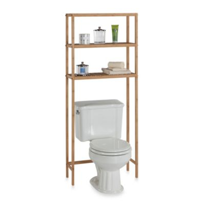 EcoStyles Bamboo 3-Shelf Space Saver Tower