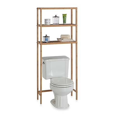 buy ecostyles bamboo 3 shelf space saver tower from bed bath beyond