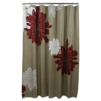 Blissliving® Ashley Grey Cotton 72-Inch x 72-Inch Shower Curtain