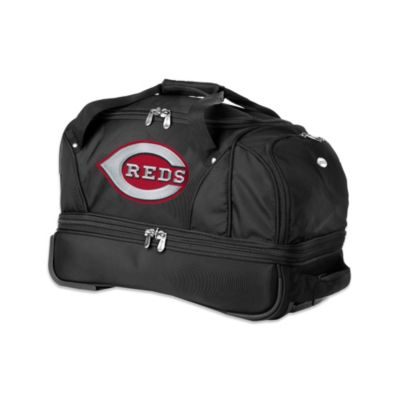 MLB Cincinnati Reds 22-Inch Drop Bottom Wheeled Duffel Bag