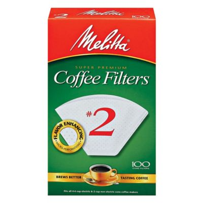 Melitta® 100-Count Number 2 White Super Premium Coffee Filters