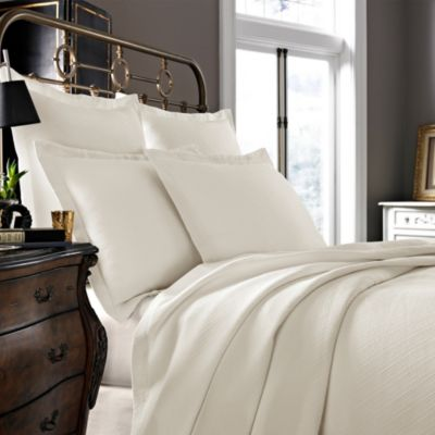 Kassatex Arno Collection Twin Coverlet in Ivory