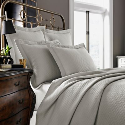 Kassatex Diamante Collection King Coverlet in Flax