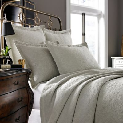 Kassatex Foglia Collection Standard Pillow Sham in Flax