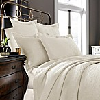 Kassatex Foglia Collection Coverlet in Ivory