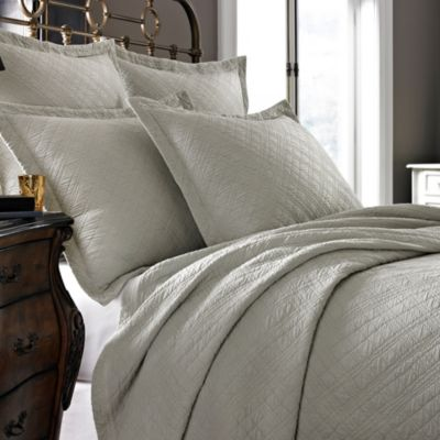 Kassatex Modena Collection Queen Coverlet in Flax
