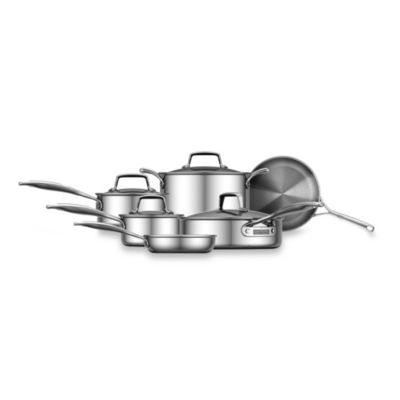 ZWILLING® Energy Polished Stainless Steel 10-Piece Cookware Set