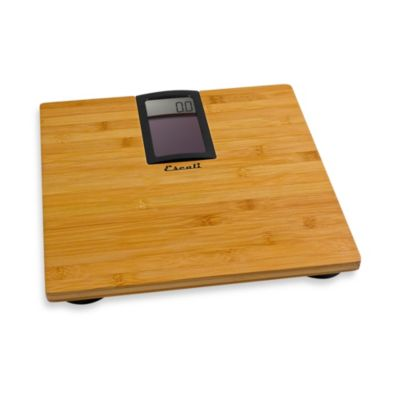 Escali® Eco Solar-Powered Bamboo Bathroom Scale