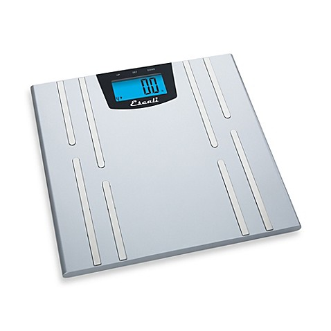 Escali body fat water muscle mass bathroom scale bed for Big w bathroom scales
