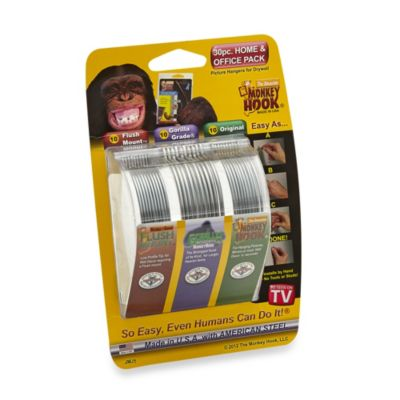 Monkey Hook 30-Piece Picture Hanger Home & Office Pack