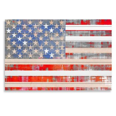 "Parvez Taj ""Flag"" Wood Art"