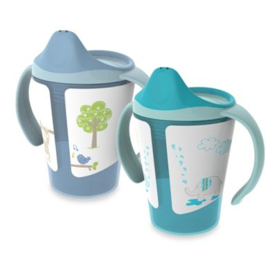 Born Free® 6 oz. Training Cups in Blue/Turquoise (Set of 2)