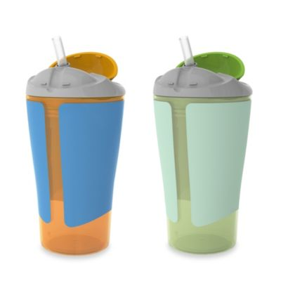 Born Free® 10 oz. Straw Cups in Orange/Green (Set of 2)