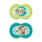 MAM Cartoon Ages 6 Months and Up Pacifier in Blue (2-Pack)