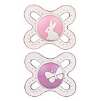 MAM Start Size Newborn to 2 Months Pacifier in Pink/Purple (2-Pack)