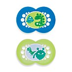 MAM Monsters Ages 6 Months and Up Pacifier in Blue/Green (2-Pack)