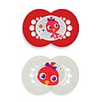 MAM Cartoon Ages 6 Months and Up Pacifier in Red (2-Pack)