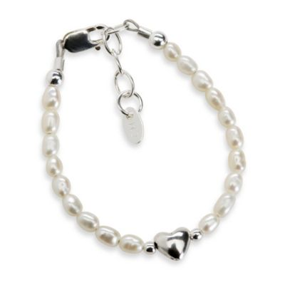Cherished Moments Destiny Sterling Silver with Freshwater Cultured White Pearls Bracelet