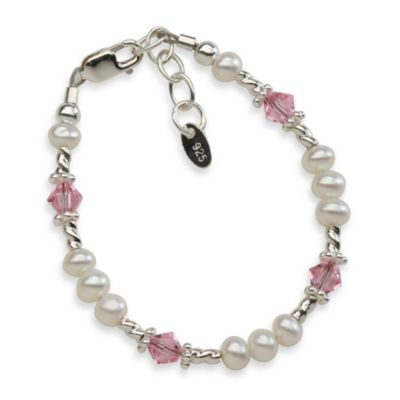 Cherished Moments Isabelle Small Sterling Silver, Freshwater Pearls & Swarovski Crystals Bracelet