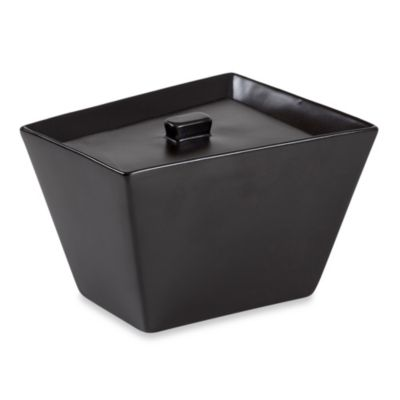 Angles Contemporary Bath Jar in Black