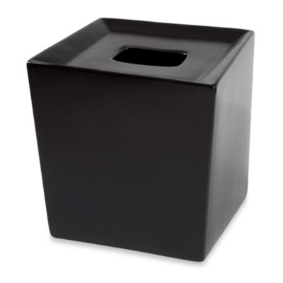 Angles Contemporary Bath Tissue Holder in Black