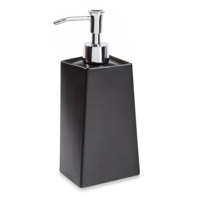 Angles Contemporary Bath Lotion Dispenser in Black