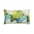 14-Inch x 24-Inch Oversized Rectangular Outdoor Toss Pillow in Floral