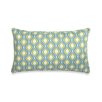 14-Inch x 24-Inch Oversized Rectangular Decorative Pillow in Blue/Green
