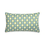 14-Inch x 24-Inch Oversized Rectangular Outdoor Toss Pillow in Blue/Green