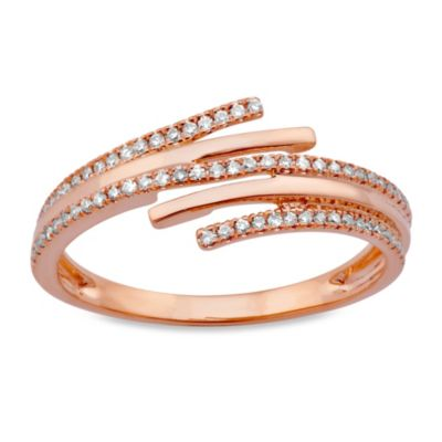 Violet and Sienna 14K Rose Gold .18 cttw Diamond Wrap Size 7 Ring