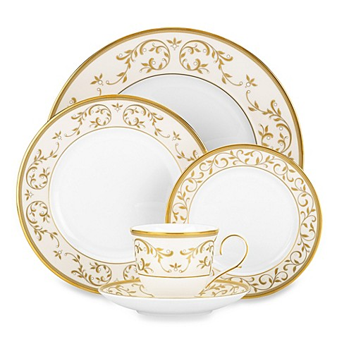 Lenox® Opal Innocence™ Gold 5-Piece Place Setting in White
