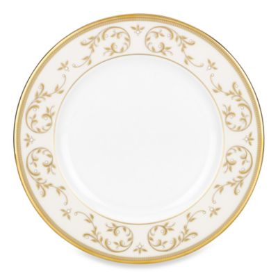 Lenox® Opal Innocence™ Gold 8-Inch Salad Plate in White