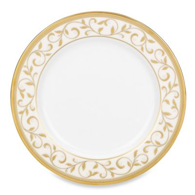 Lenox® Opal Innocence™ Gold 6-1/2 Inch Bread and Butter Plate in White